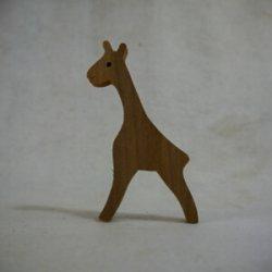 画像1: 木製切抜きパーツ「きりん」