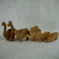 画像3: 木製切抜きパーツ「きりん」