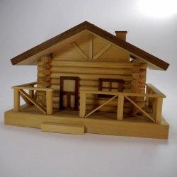 画像1: 木製組立キット 「ログハウス小物入れ」