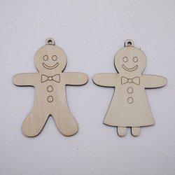 画像1: クリスマスオーナメント ジンジャークッキー(2種 各1枚)