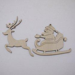 画像1: クリスマスオーナメント サンタクロース・トナカイ(2種 各1枚)