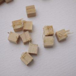 画像4: ひらめ木パーツ・ヒノキ 6×6×6mm 【WEB限定・アウトレット特価】