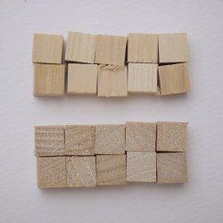 画像3: ひらめ木パーツ・ヒノキ 8×8×8mm 【WEB限定・アウトレット特価】