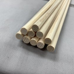 画像3: ヒノキ丸棒 8φ×900mm  10本一式