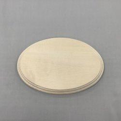 画像1: シナ飾り台  楕円 15×120×180mmφ  小