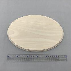 画像2: シナ飾り台  楕円 15×200×300mmφ  大